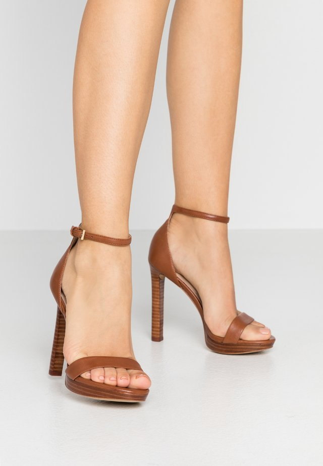 MADDAD - High heeled sandals - cognac