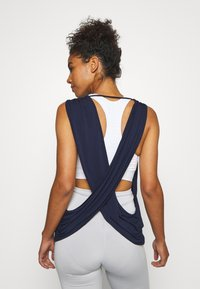 South Beach - YOGA WRAP - Topper - navy - 2