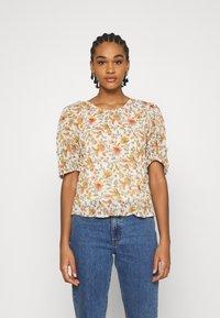 ONLY - ONLDAHLIA - Print T-shirt - creme brûlée - 0