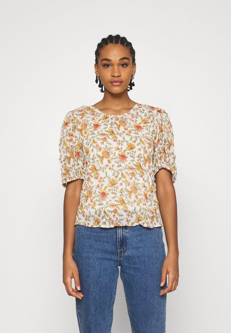 ONLY - ONLDAHLIA - Print T-shirt - creme brûlée