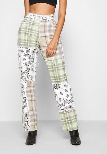 PATCHWORK BANDANA BOYFRIEND FIT - Jeans slim fit - multicolor