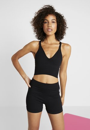 GOOD KARMA CROP - Topper - onyx