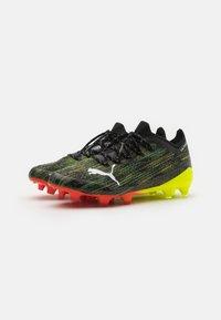 Puma - ULTRA 1.2 FG/AG - Fodboldstøvler m/ faste knobber - black/white/yellow alert - 1