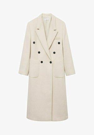 DOUBLE-BREASTED - Classic coat - ecru