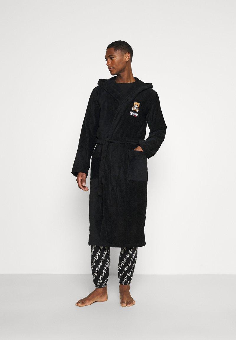 Moschino Underwear - BATHROBE - Badekåpe - black