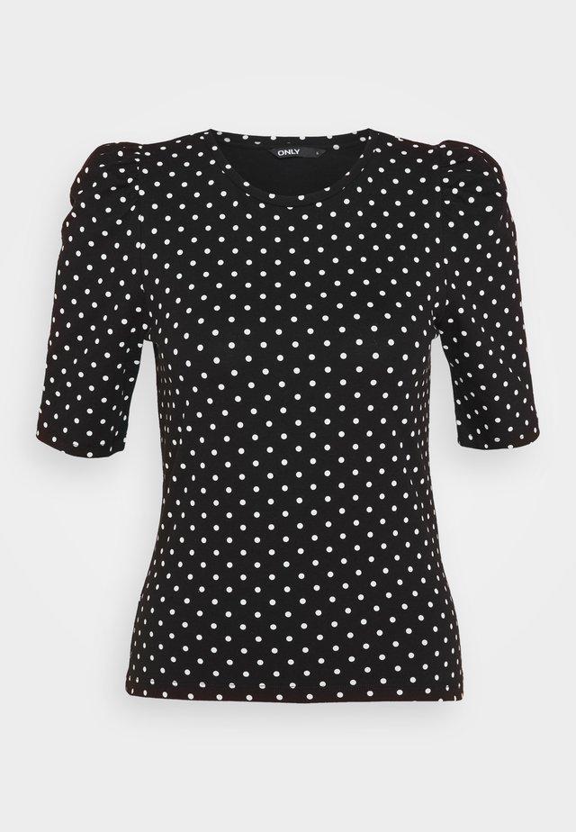 ONLMAYA LIVE LOVE PUFF - T-shirt con stampa - black/white