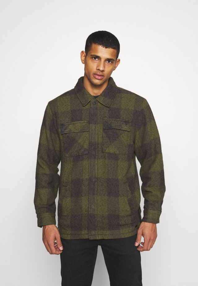 LUKE - Chaqueta fina - military green/grey
