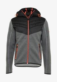 Superdry - GYM TECH CHEVRON HYBRID - Training jacket - urban grey heather - 6