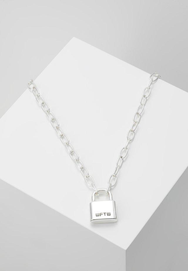 LOCKDOWN LINK CHAIN NECKLACE - Kaulakoru - silver-coloured