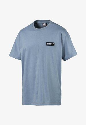 T-shirt imprimé - faded denim