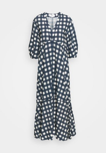 BELL SLEEVE GINGHAM CHECK DRESS