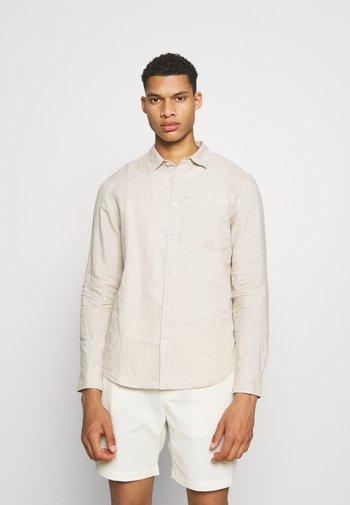 Linen Shirt - Vapaa-ajan kauluspaita - beige