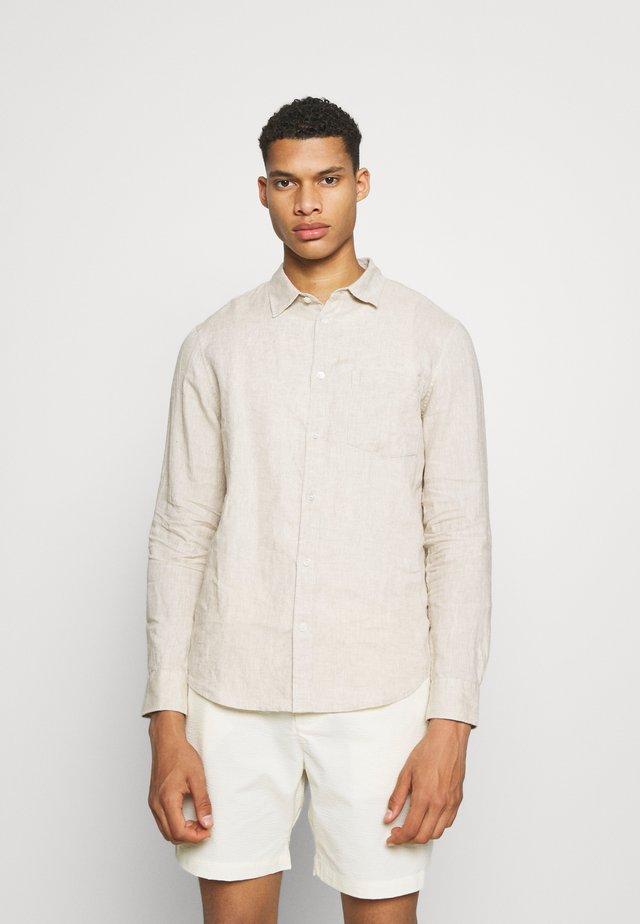 Linen Shirt - Skjorter - beige