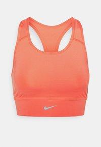 LONG LINE BRA - Medium support sports bra - magic ember/sequoia/aluminum