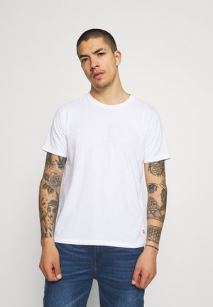 GRAPHIC CREWNECK TEE - Print T-shirt - white