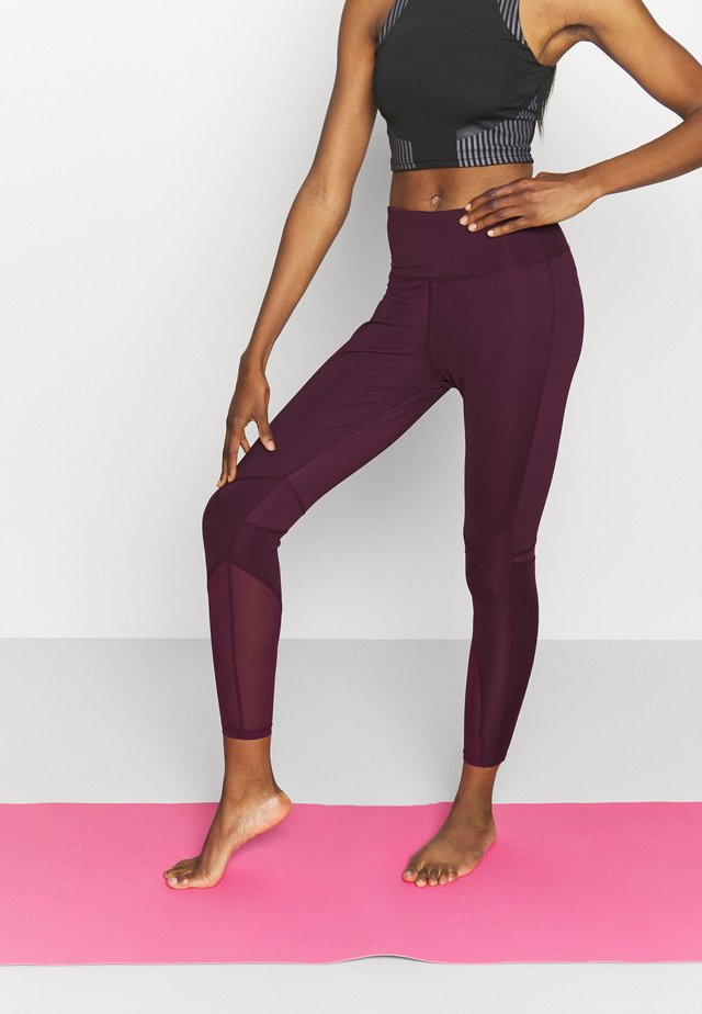 PANELLED INSERT LEGGING - Trikoot - fig