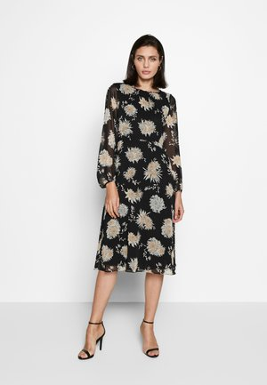 ORIENTAL MIDI DRESS - Kjole - black