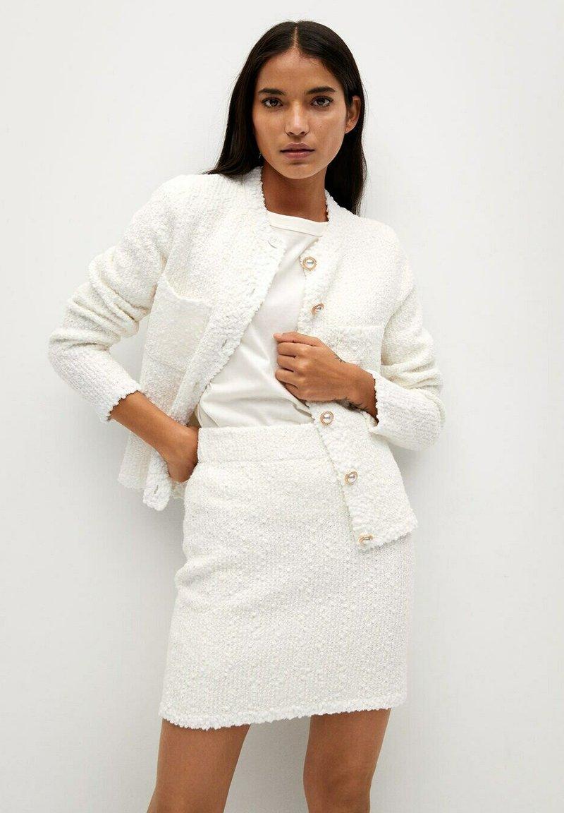 Mango - UPPER - Mini skirt - blanc