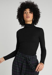 New Look - ROLL NECK - Long sleeved top - black - 0