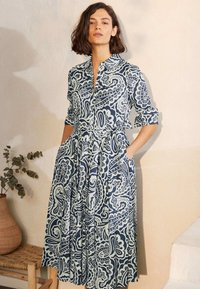 Boden - Shirt dress - dunkles petrolblau, sommerliches paisleymuster - 0