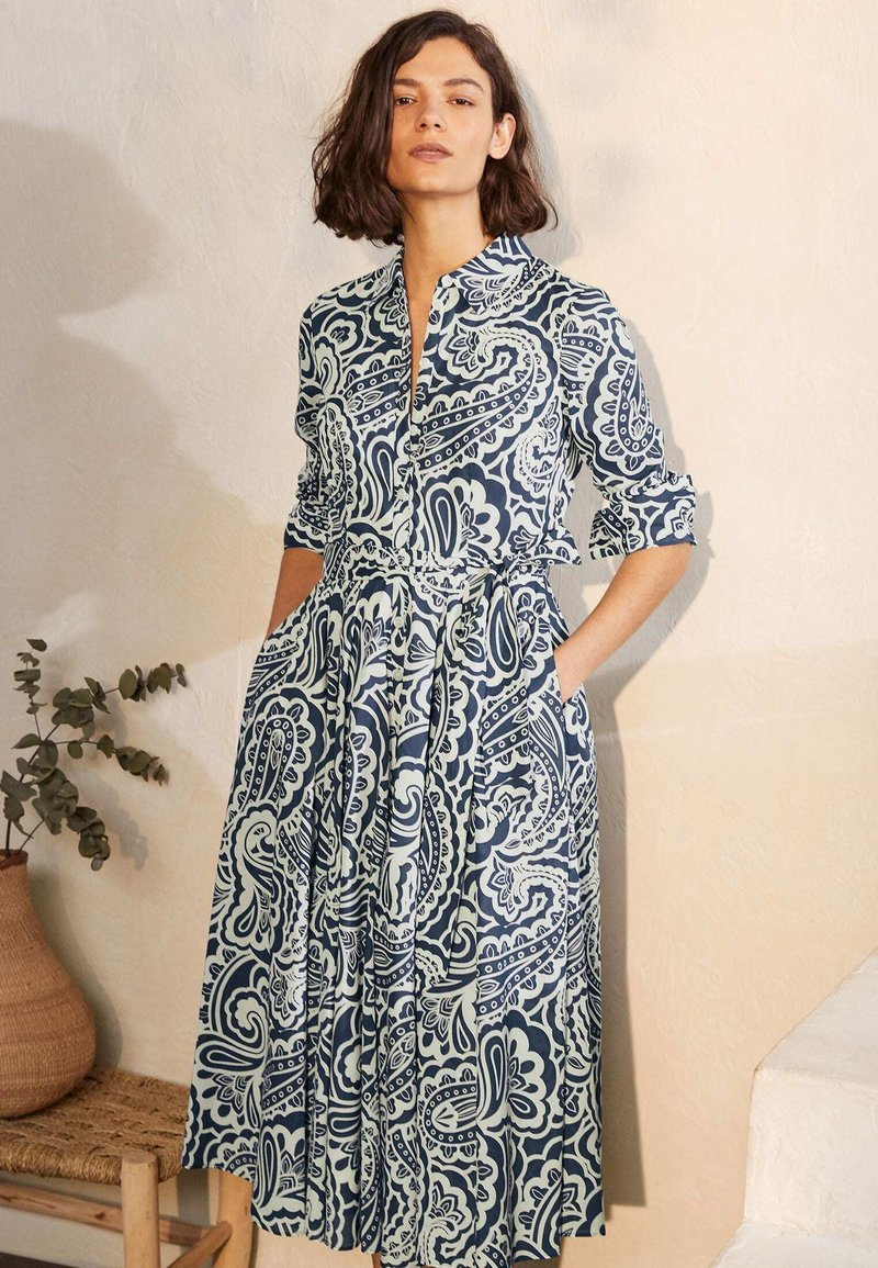 Boden - Shirt dress - dunkles petrolblau, sommerliches paisleymuster