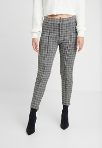 Miss Selfridge Petite - CHECK PONTE TROUSER - Trousers - multi - 4