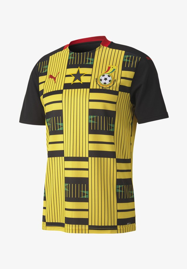 GHANA AWAY REPLICA - Club wear - puma black-dandelion