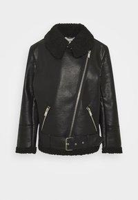 JACKET SIGNE - Faux leather jacket - black