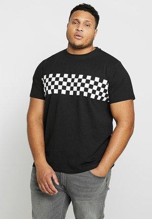 CHECKPANEL TEE PLUS SIZE - T-shirt print - black/white
