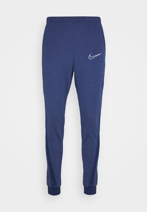 DRY ACADEMY - Tracksuit bottoms - blue void/heather/blue void/white