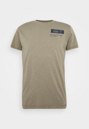 BIKER SLUB - T-shirt imprimé - sage