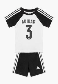 adidas Performance - SPORT SUMMER TRACKSUIT BABY SET - Trainingspak - white/black - 0