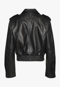 Proenza Schouler White Label - JACKET - Kožená bunda - black - 1