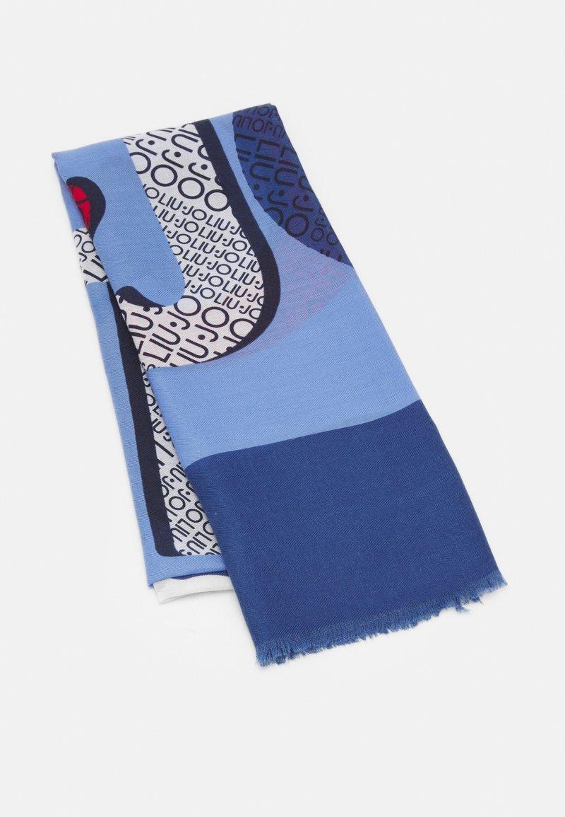 LIU JO - MACROLOGO STELLE - Scarf - bright blue