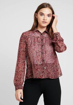 ONLAMELIA DETAIL  - Button-down blouse - black