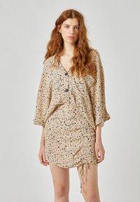 PULL&BEAR - Áčková sukně - beige - 3