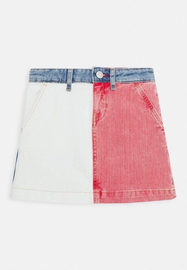 CARPENTER SKIRT - A-line skirt - white/red