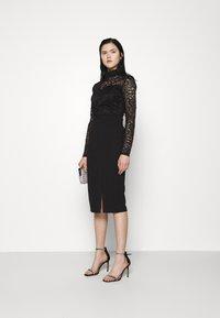 WAL G. - HIGH NECK DRESS - Cocktail dress / Party dress - black - 1