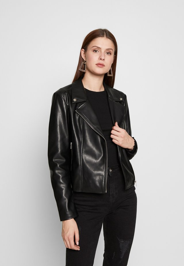 PCSOLIMA BIKER JACKET  - Giacca in similpelle - black