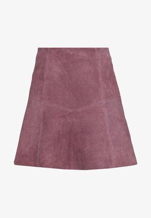 VIVISO SHORT SKIRT - A-line skirt - grape shake/light gold trim