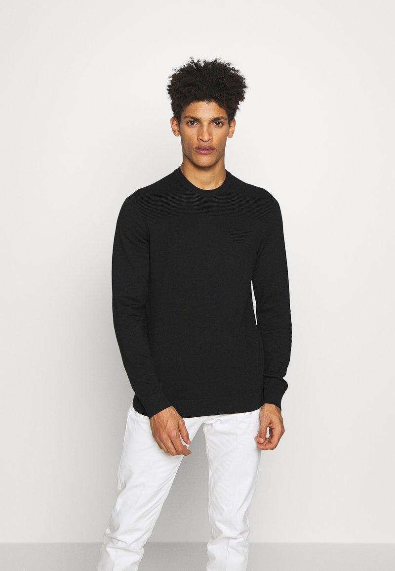 Emporio Armani - MAGLIERIA - Sweter - black