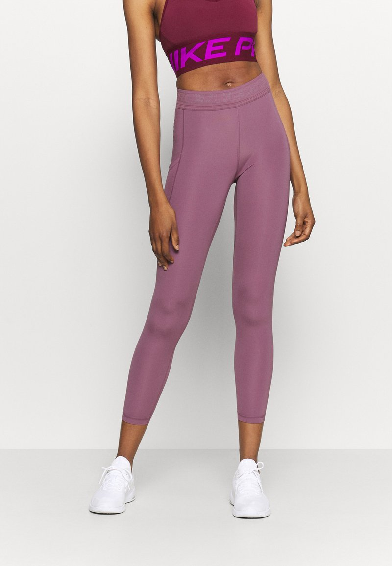 Nike Performance - 7/8 FEMME - Tights - light mulberry/white