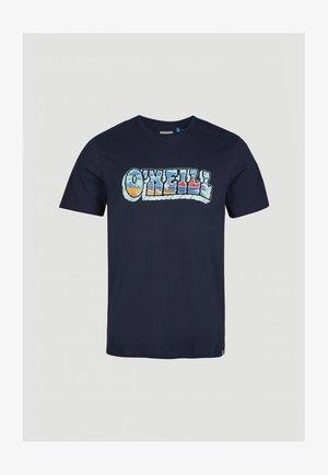 OCEANS VIEW  - Print T-shirt - ink blue