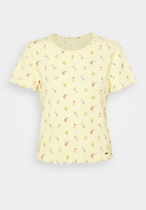 LETTUCE BABY TEE - Camiseta estampada - yellow