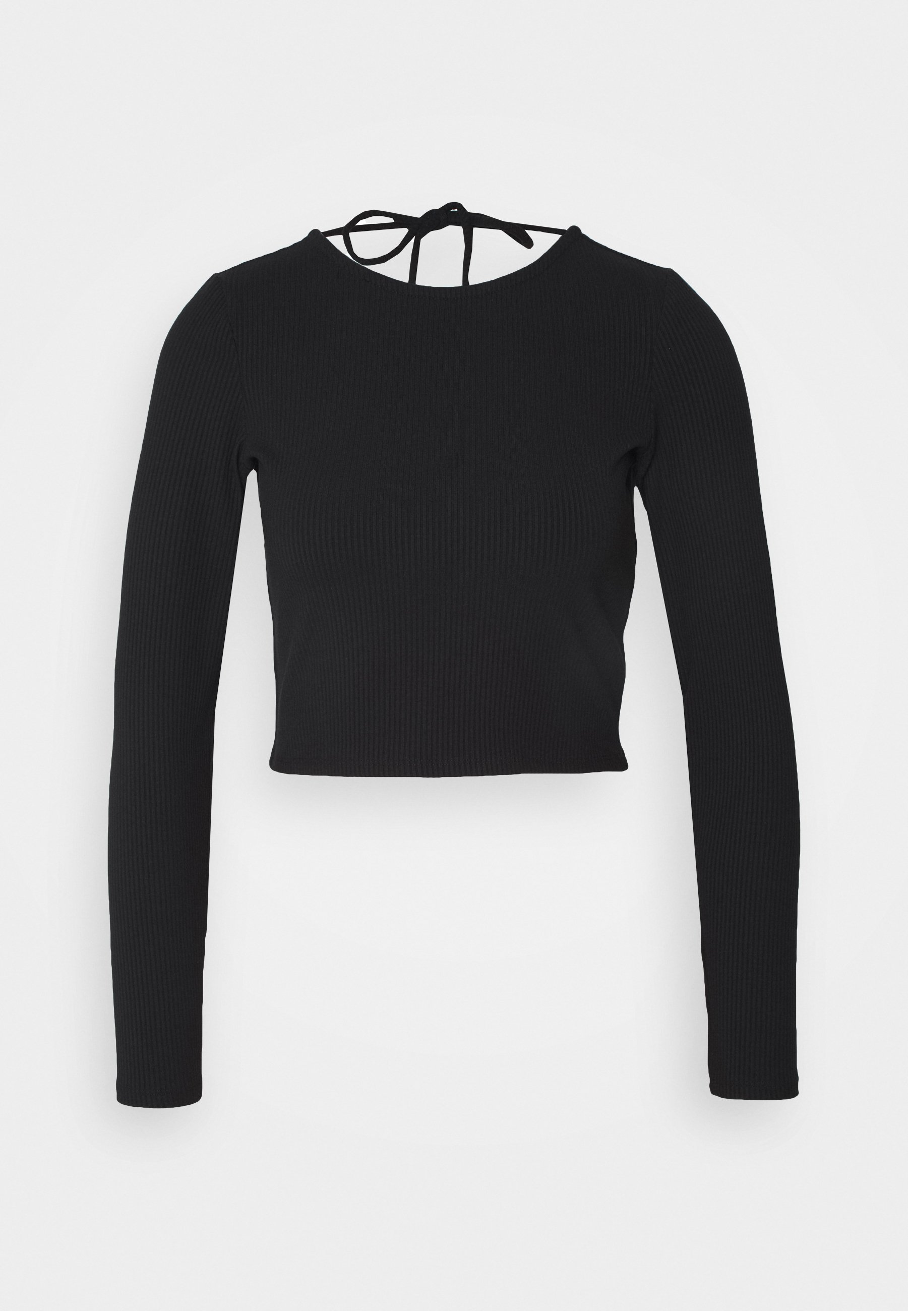 Monki Tania - Topper Langermet Solid Black/svart