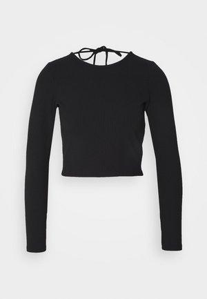 TANIA - Topper langermet - solid black