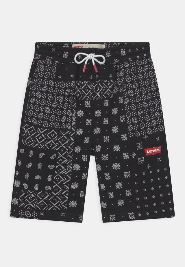 LOGO - Shorts - black/white