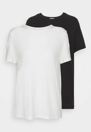 VMAVA TALL 2 PACK - Basic T-shirt - black/snow white