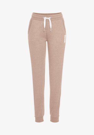 Tracksuit bottoms - nude-weiß