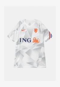 Nike Performance - NIEDERLANDE UNISEX - National team wear - white/safety orange - 0